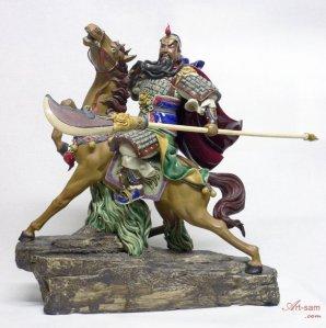 Guan Gong on horseback