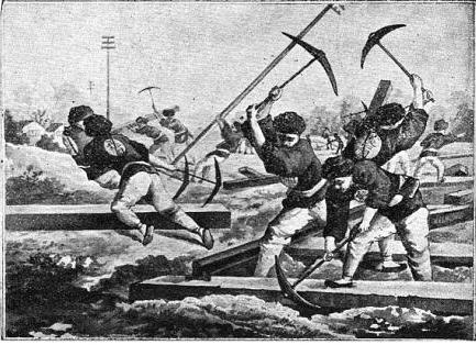 Boxer Rebels Destroying Railway