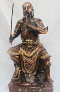 Xuan Tian Shang Di, sword in hand.