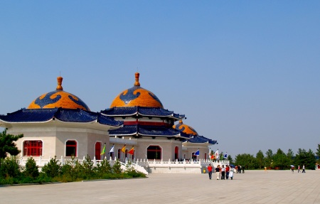 Chinggis Khan Mausoleum, Ordos City, Inner Mongolia. Built 1956.