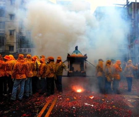 Mazu temple procession, April 20, 2013. Taipei. Credit: Katherine Alexander