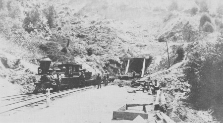 Wrights Tunnel, north end construction c. 1879.