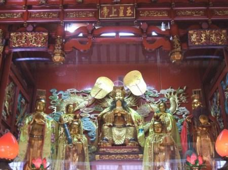 Inner Chamber of Jiu Huang Da Di Temple in Johor Bahru, Malaysia