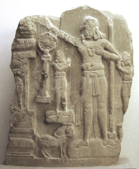 "Chakravartin, a Buddhist ""wheel-turning monarch."""