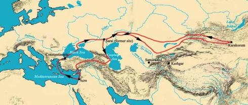 William of Rubruck's Route. Public domain.